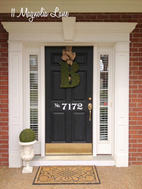 front porch vinyl house numbers