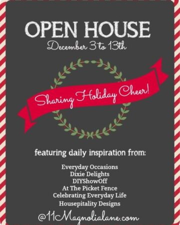 The Holiday Open House Series Here at 11 Magnolia Lane