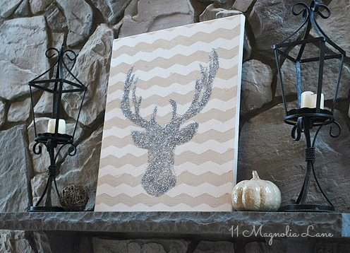 glitter-deer-sillouette-craft-diy1