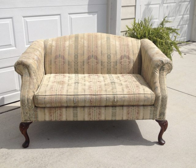 loveseat before reupholstering