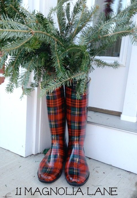 Boots_Plaid_Greenery