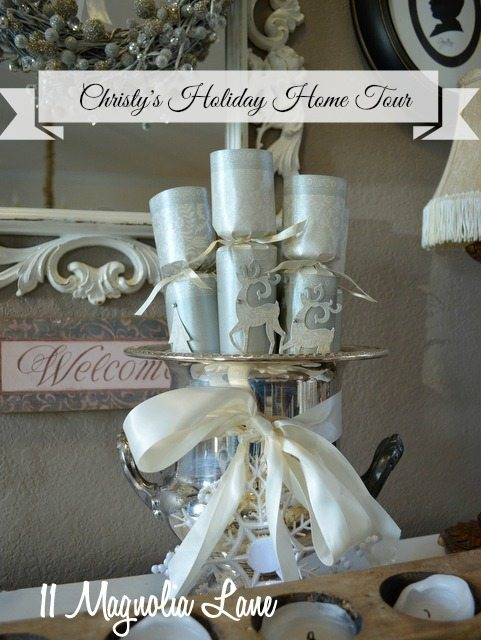 silver white christmas crackers