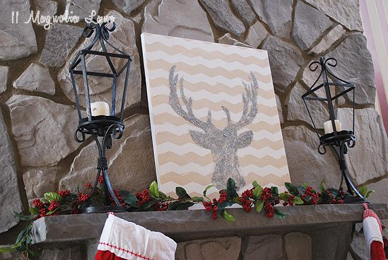 deer-mantel-holiday