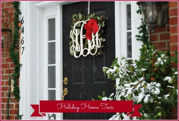 front door wreath marked