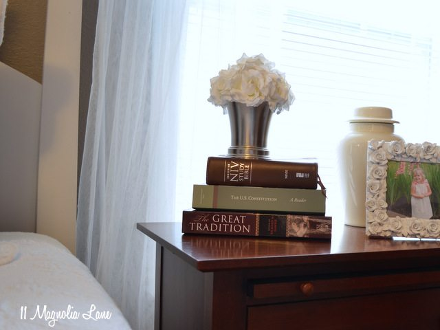 master bedroom cherry nightstand
