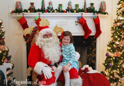sloane with santa