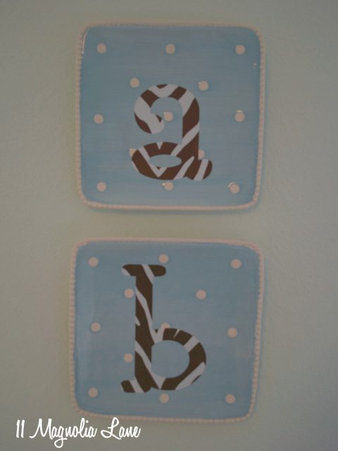 monogrammed decorative plates wall