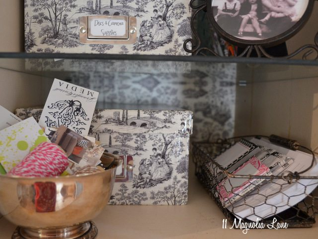 toile photo storage boxes
