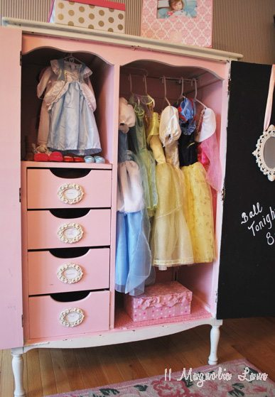 full view dress up armoire