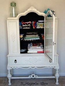 China Cabinet Makeover Using Annie Sloan Chalk Paint