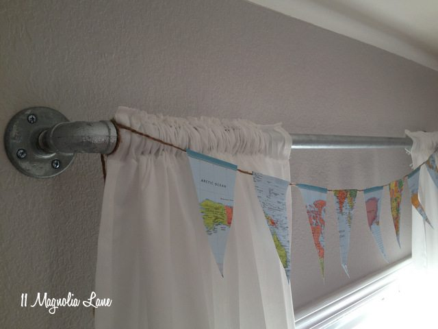 DIY pipe fitting curtain rod