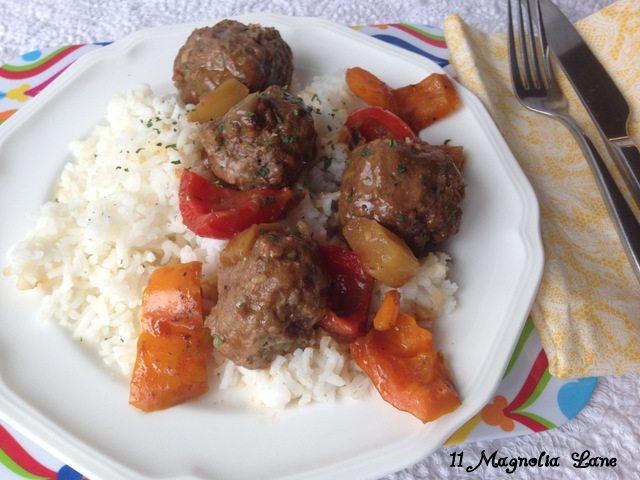 Hawaiian Meatball Dinner