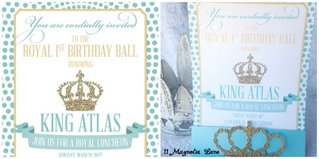 Royal First Birthday Invitation