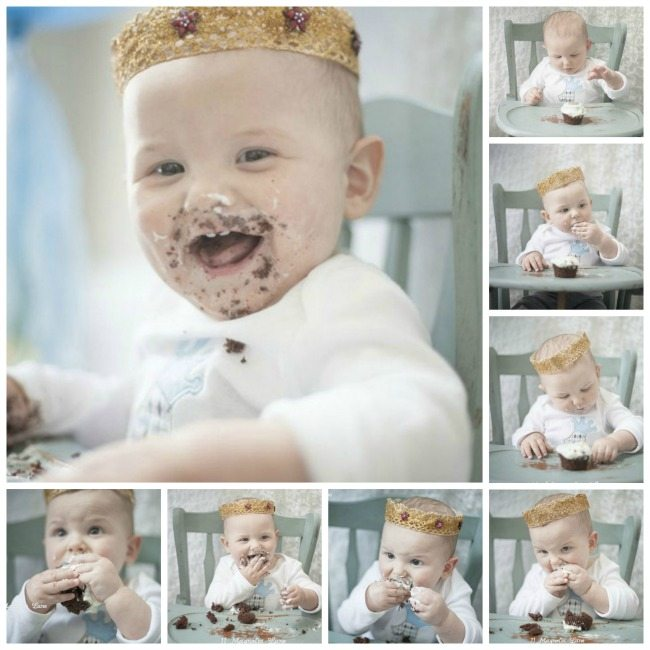 Cake Eating Collage