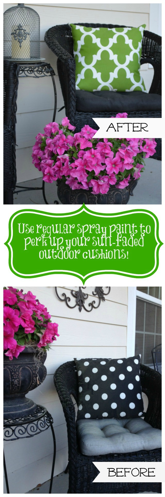 how to spray paint pillow cushion