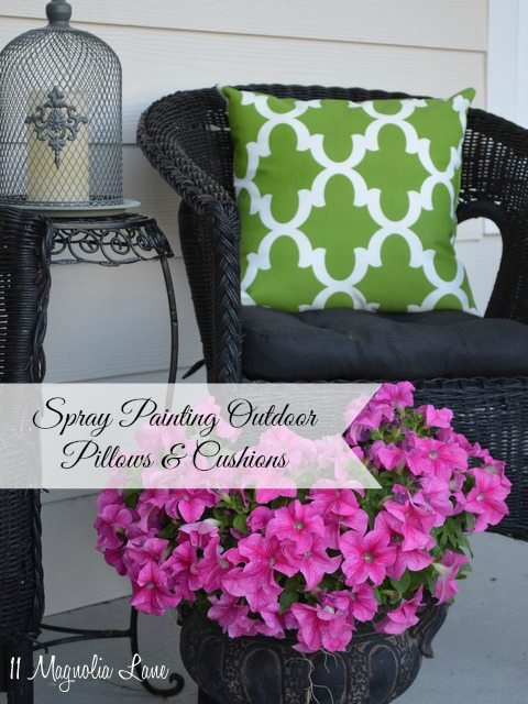 regular spray paint outdoor pillows cushions