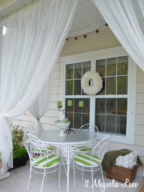 basket pillows blanket porch