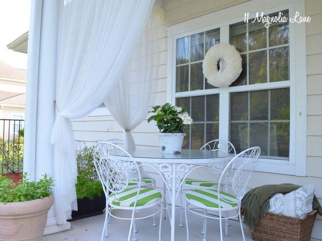 sheer curtains porch