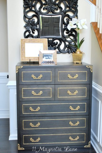 Black and Gold Painted Furniture