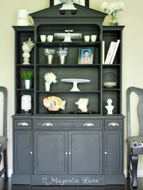 Black Milk Painted Cabinet
