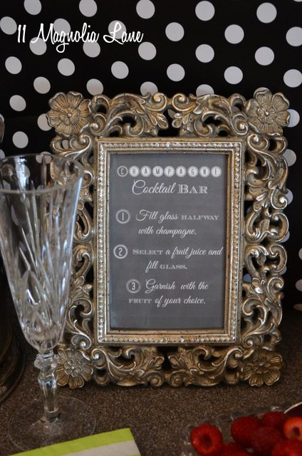 champagne cocktail mimosa bar free printable