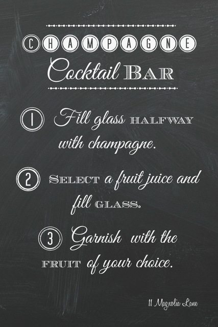 free printable champagne bar