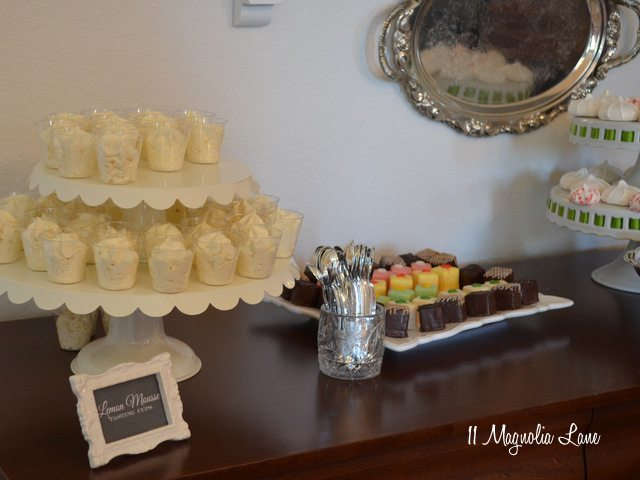 Lemon mousse tasting cups--yum!