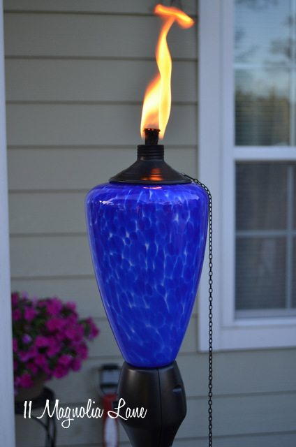 glowing torch