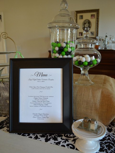 Print and frame a menu for your next buffet!