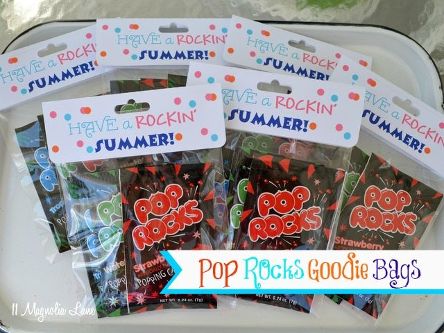 End of year gift: Pop Rocks goodie bags