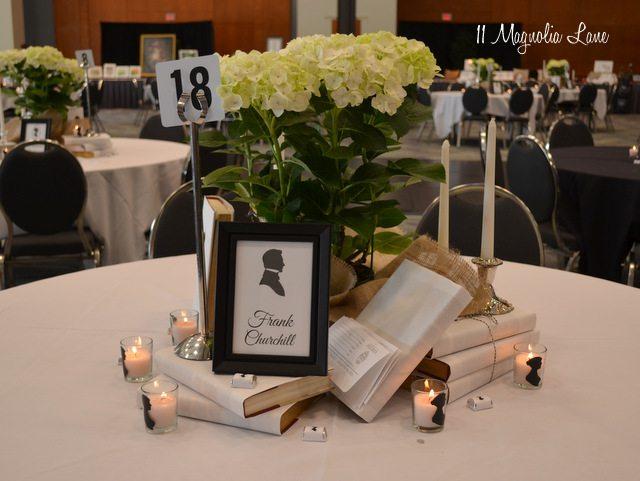 Jane Austen style table decor