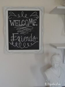 DIY Chalkboard from a Thrift Store Frame