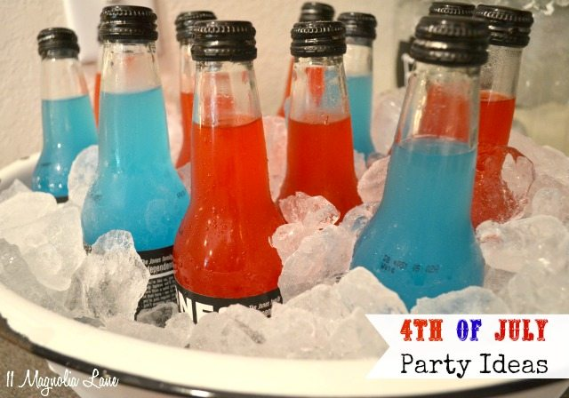 Blue and red sodas for July 4th