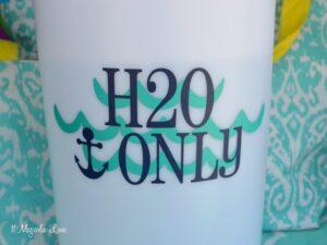 H2O Only vinyl decal for tank sprayer