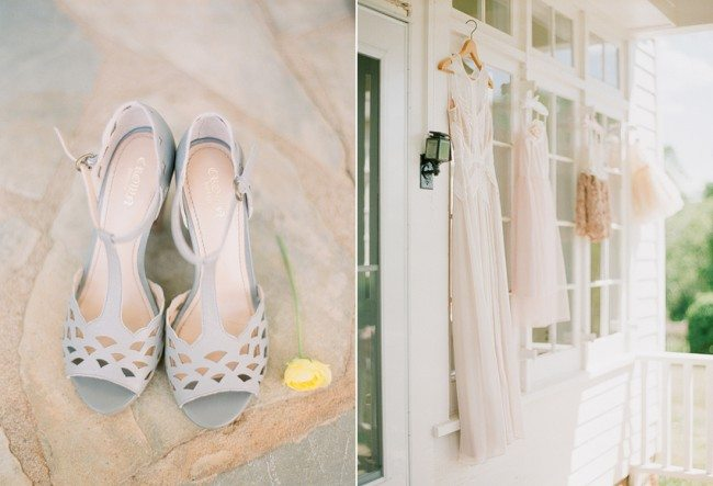 BCBG wedding Dress and Shoes