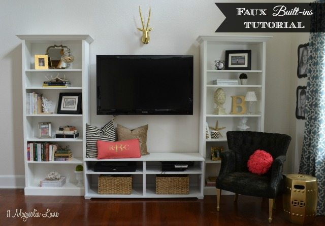 "DIY Faux ""Built In"" Shelves--IKEA Hack"