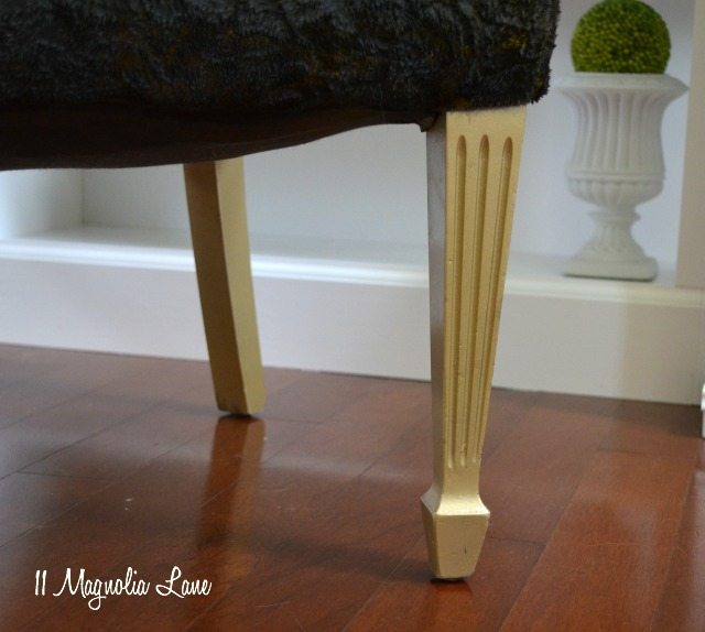 Chair legs painted gold