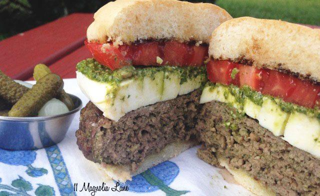 Caprese Burger 3