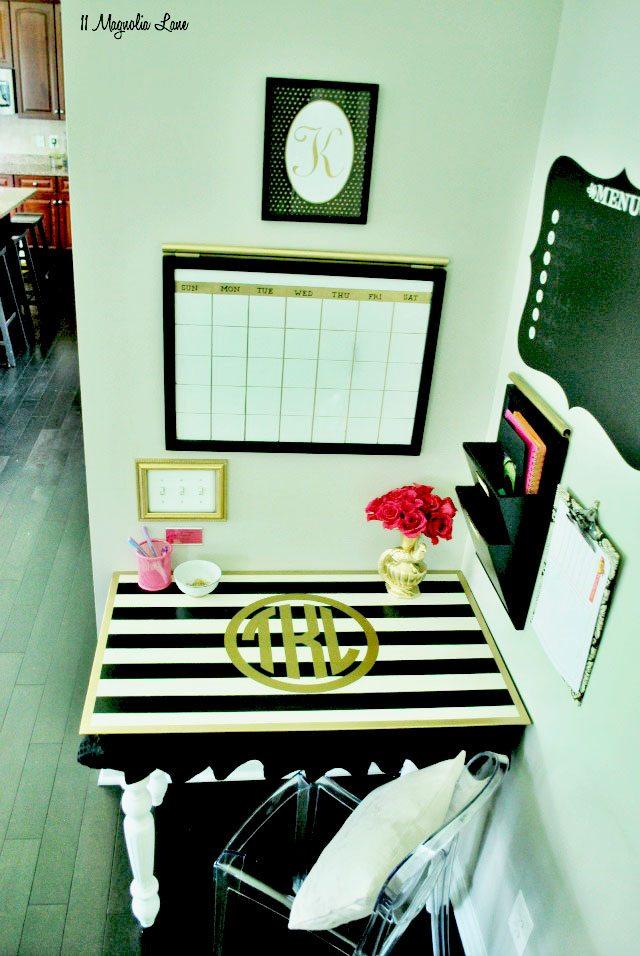 Monogrammed desk