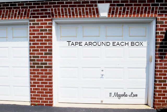 Tape and Painting Carriage Garage Doors