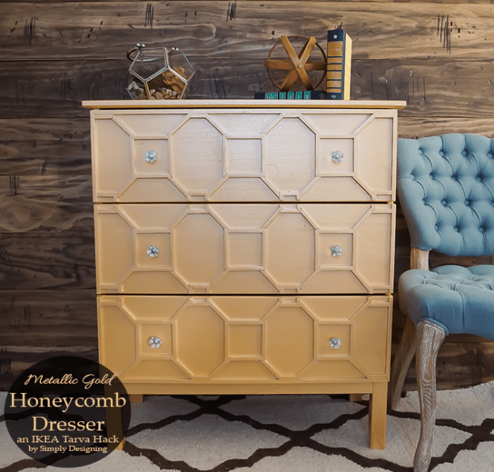 Merallic-Gold-Honeycomb-Dresser