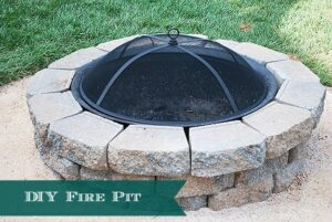 How to DIY a backyard Fire Pit--under 4 hours and under $400.