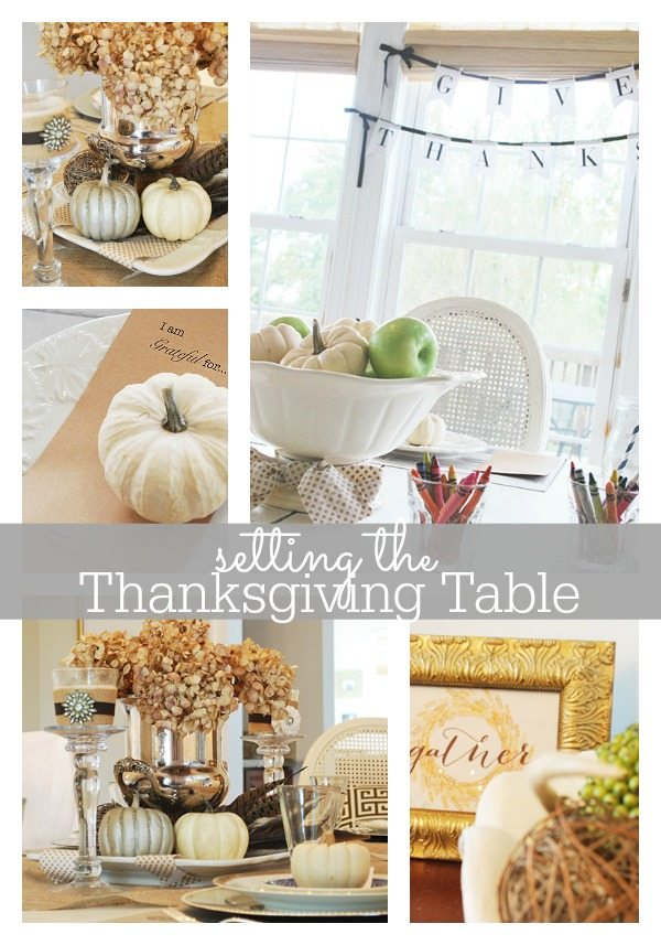 Thanksgiving tablescape ideas {kids' table too!}