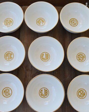 DIY Gold Monogrammed Jewelry Bowl | 11 Magnolia Lane