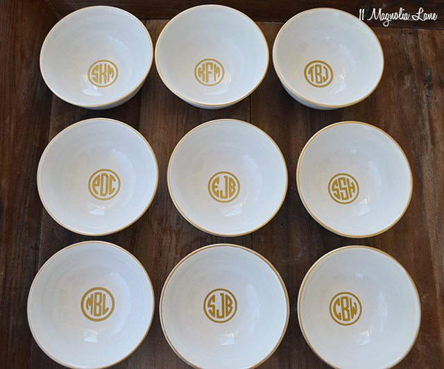 DIY Gold Monogrammed Jewelry Bowl | 11 Magnolia Lane