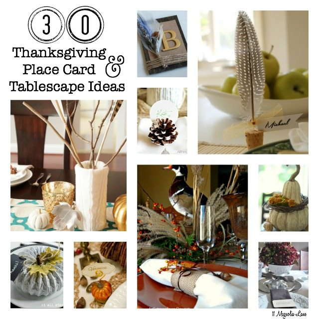 30 Thanksgiving Tablescape & Place Card Ideas | 11 Magnolia Lane