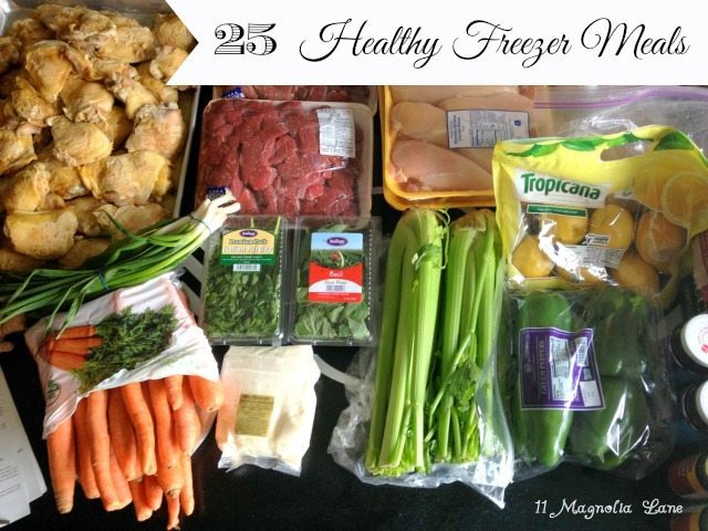 25 Healthy Make-Ahead Freezer Meals | 11 Magnolia Lane