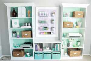 Organized home office from Just a Girl and Her Blog for 11 Magnolia Lane | Operation: Organization 2015