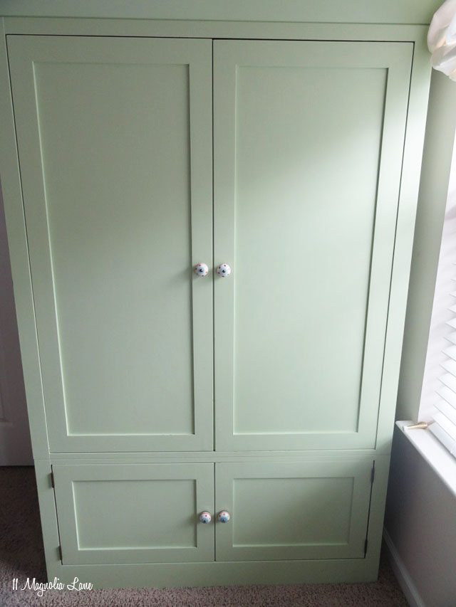 Green painted armoire | 11 Magnolia Lane