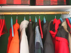 Operation: Organization--Organized Coat Closet from Paige at The Pink Clutch